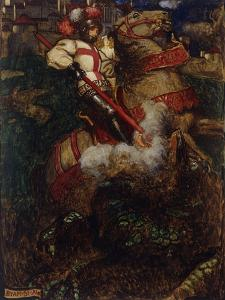 St George Slaying the Dragon, 1908 by John Byam Shaw