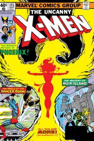 Uncanny X-Men No.125 Cover: Phoenix, Colossus, Storm, Madrox and Havok