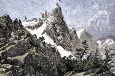 John C. Freemont Planting the U.S. Flag on the Colorado Rockies, c.1842
