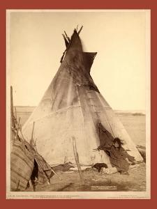 A Young Oglala Girl Sitting in Front of a Tipi by John C. H. Grabill