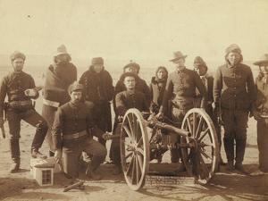 """Coporal Paul Weinert and gunners of Battery """"E"""" 1st Artillery by John C. H. Grabill"""