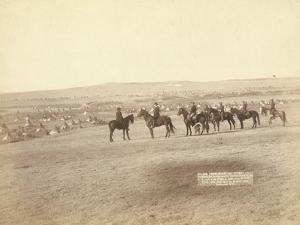 Gen. Miles and staff viewing the largest hostile Indian Camp in the U.S., near Pine Ridge, 1891 by John C. H. Grabill