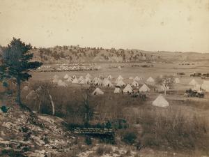 General Brook's Camp near Pine Ridge, 1891 by John C. H. Grabill