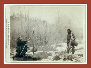 Hunting Deer. a Deer Hunt Near Deadwood in Winter '87 and ' Two Miners Millan and Hubbard Got their by John C. H. Grabill