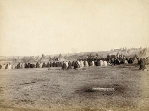 Indian Council in hostile camp, 1891 by John C. H. Grabill
