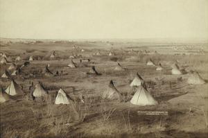 Native American Encampment - Lakota Indians by John C.H. Grabill