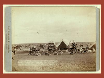 Roundup Scenes on Belle Fouche [Sic] in 1887