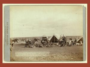 Roundup Scenes on Belle Fouche [Sic] in 1887 by John C. H. Grabill
