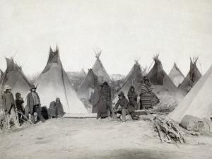 Sioux Encampment, 1891 by John C.H. Grabill