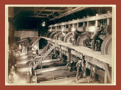The Interior. Clean Up Day at the Deadwood Terra Gold Stamp Mill