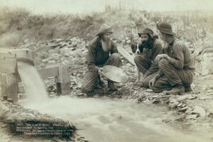 Washing and panning gold, Rockerville, 1889 by John C. H. Grabill