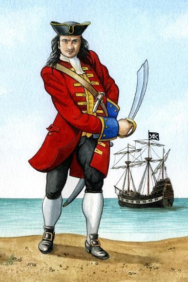 John 'Calico Jack' Rackham, (1680-172), English Pirate Captain-Karen Humpage-Giclee Print