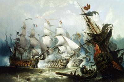 The Battle of Trafalgar, c.1875 by John Callow