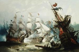 The Battle of Trafalgar by John Callow