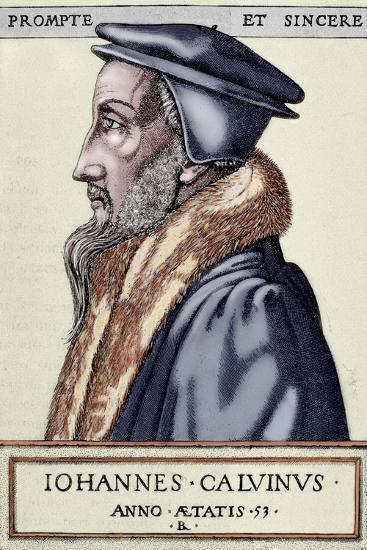 John Calvin (1509 1564). French Theologian and Pastor During the Protestant Reformation--Giclee Print