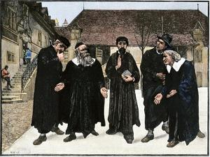 John Calvin and the Four Syndics Founding the Seminary Which Became the College of Geneva, 1559