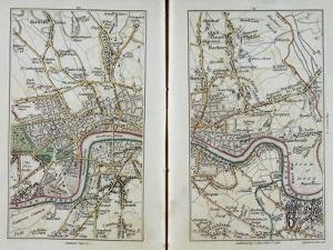 Map of East London, Plates 20-21, from 'Cary's Actual Survey of Middlesex', 1786 by John Cary