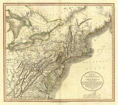 New York, Vermont, New Hampshire, c.1806 by John Cary