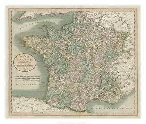 Vintage Map of France by John Cary