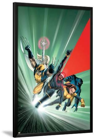 Astonishing X-Men No.1 Cover: Cyclops, Shadowcat, Beast, Wolverine, Emma Frost and X-Men