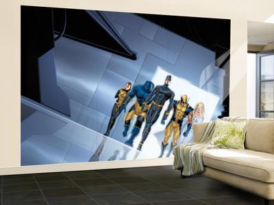 Astonishing X-Men No.1 Group: Cyclops, Wolverine, Beast, Shadowcat, Emma Frost and X-Men