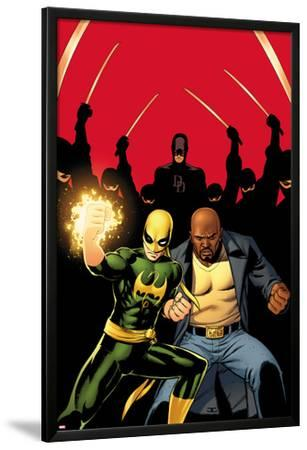 Daredevil No.509 Cover:  Iron Fist, Luke Cage, and Daredevil Posing by John Cassaday