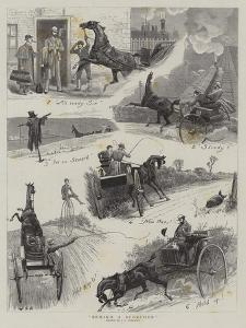 Behind a Scorcher by John Charles Dollman