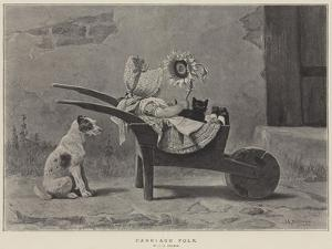 Carriage Folk by John Charles Dollman