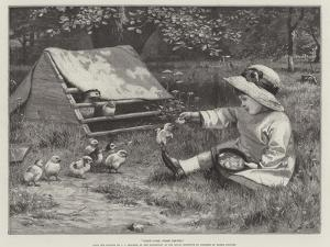 First Come, First Served, in the Exhibition of the Royal Institute of Painters in Water Colours by John Charles Dollman