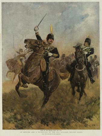 An Officer and a Trumpeter of the 20th Hussars, Review Order