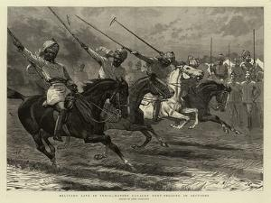 Military Life in India, Native Cavalry Tent-Pegging in Sections by John Charlton