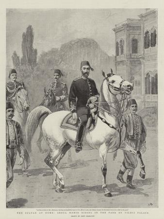 The Sultan at Home, Abdul Hamid Riding in the Park of Yildiz Palace
