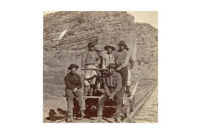 John Chinaman on the Rail Road, C.1870--Giclee Print