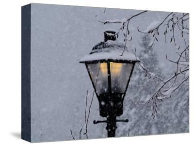 Lamp Post in the Evening Snow