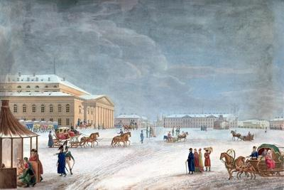 Square and the Grand Theatre at St Petersburg, 1817
