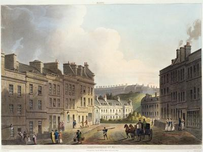 """Marlborough Street, from """"Bath Illustrated by a Series of Views"""""""