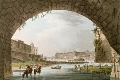Panorama of the River Seine Seen from Beneath the Pont Neuf Looking West Towards the Louvre