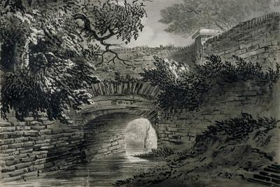 View of a Section of the Serpentine's Drainage System in Hyde Park, London, C1817