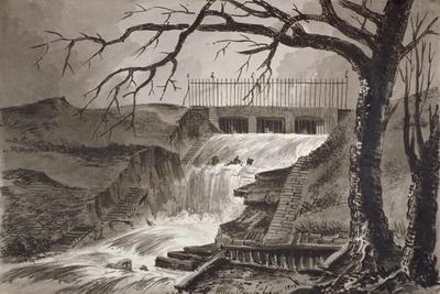 View of the The Outlet of the Serpentine, Hyde Park, London, 1818