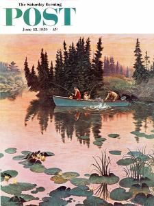 """""""A Fine Catch"""" Saturday Evening Post Cover, June 13, 1959 by John Clymer"""