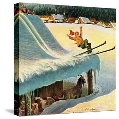 """""""Barn Skiing"""", February 17, 1951"""