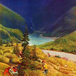 """Blueberry Hill"", August 13, 1955 by John Clymer"