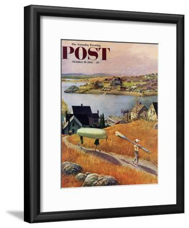 """Children with Rowboat"" Saturday Evening Post Cover, October 31, 1953"
