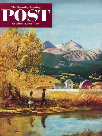 """""""Colorado Creek"""" Saturday Evening Post Cover, October 13, 1951"""