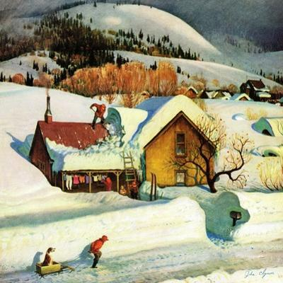 """Deep Snow Fall"", January 23, 1954"