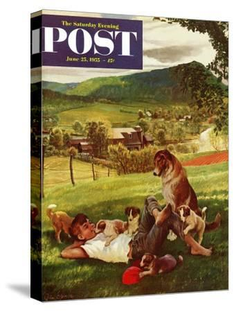 """""""Dog Days of Summer"""" Saturday Evening Post Cover, June 25, 1955"""