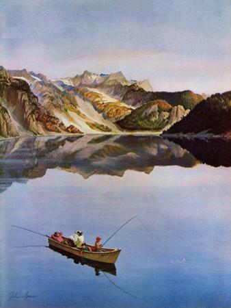"""""""Fishing on Mountain Lake"""", July 16, 1955"""
