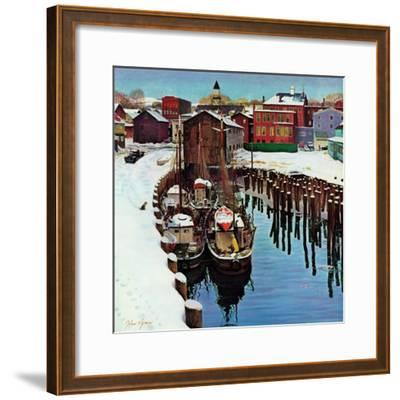 """""""Gloucester Harbor in Winter,"""" February 4, 1961"""