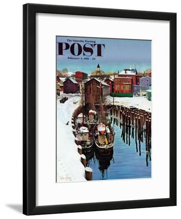 """Gloucester Harbor in Winter,"" Saturday Evening Post Cover, February 4, 1961"