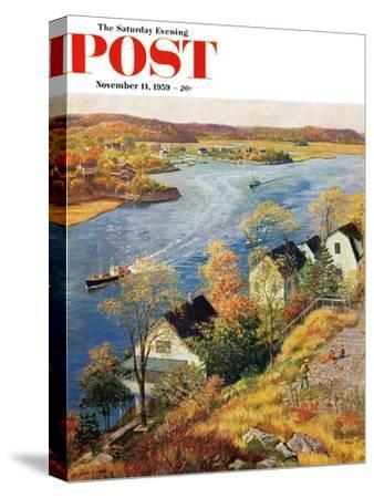 """Gloucester Harbor"" Saturday Evening Post Cover, November 14, 1959"